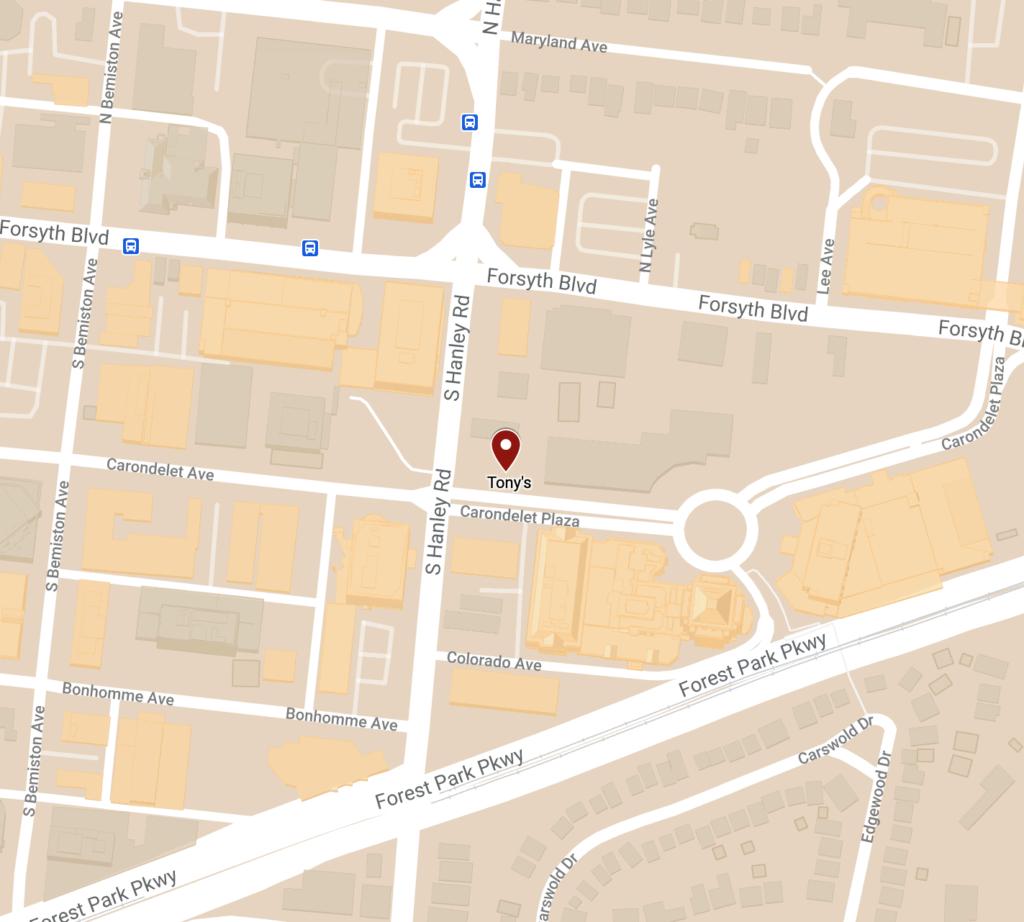 Tony's Location